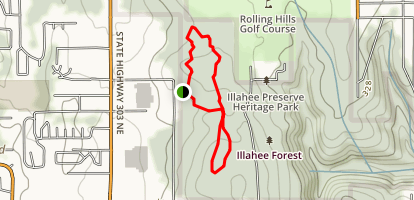Illahee Preserve Loop Trail Map