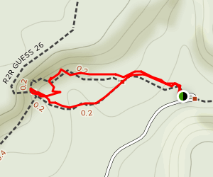 Hawk's Cave Trail Map