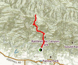 Rattlesnake Canyon Trail to Tunnel Trail Map