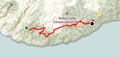 Heysen Trail Cobbler Hill-Tapanappa Map