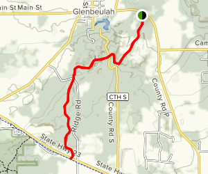 Glenbulah Ice Age Trail Map