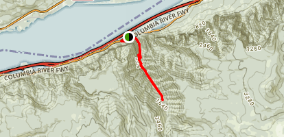 Oneonta Gorge Trail [CLOSED] Map