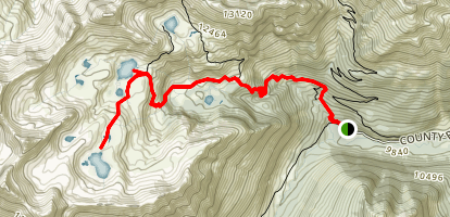 Ice Lake Basin Trail Map