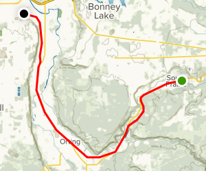 Foothills Trail from South Prairie to Puyallup Map