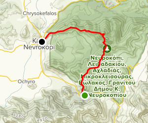 Granitis to Nevrokopi Trail Map