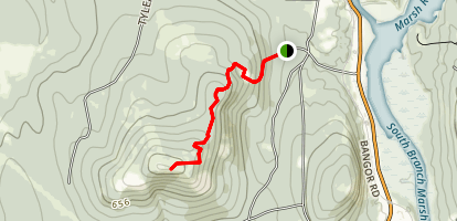 Mount Waldo and Mendall Marsh via the Quarry Trail Map