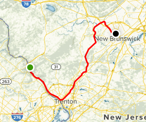 D & R Canal Towpath Map