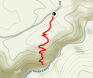 Tanque Verde Falls Viewpoint Map
