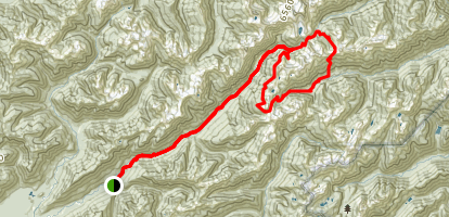 Enchanted Valley LaCrosse Basin O'Neill Pass Loop Trail Map