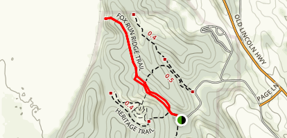 Dozer Cut and Fox Run Ridge Trail Map