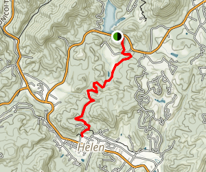 Unicoi to Helen Trail Map