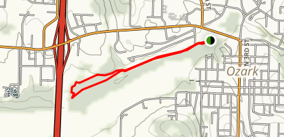 Ozark Trail: Trace Creek Section Map