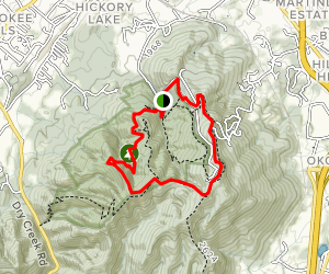 Buffalo Mountain-White Rock Trail Map