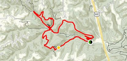 Busiek State Park Hiking trail Map