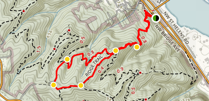 Hardesty Trail to Ridge Trail Loop Map