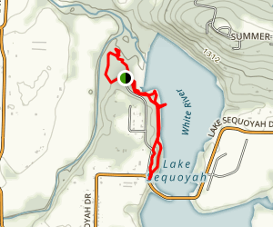 Shoreline Trail (Lake Sequoyah) Map