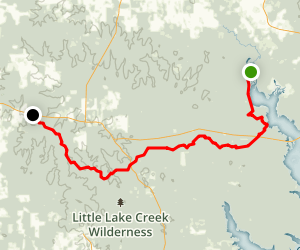 Lone Star Hiking Trail: West Fork San Jacinto River to FM 149 Map