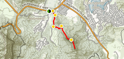 Olomana Trail Map