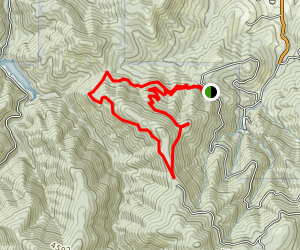 Toothpick Trail to Catwalk Trail Loop  Map