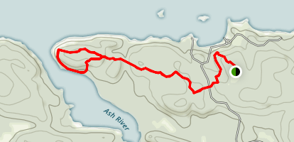 Blind Ash Bay Trail Map