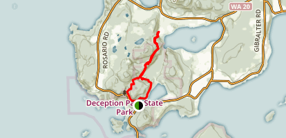 Pass Lake Loop Trail to Ginnet Trail Loop Map