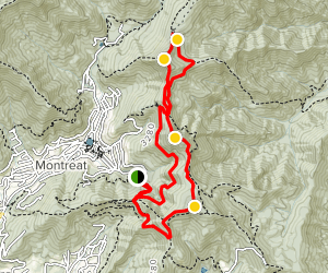 Lookout Mountain and Brushy Mountain Loop Map