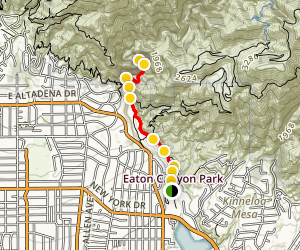 Eaton Canyon Trail Map