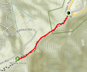 Yellow Face Trail Map