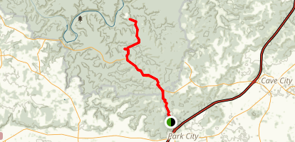 Mammoth Cave Railroad Trail  Map