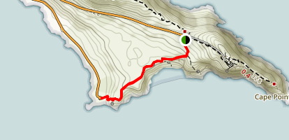 Cape of Good Hope: Cape Point Connector Trail Map