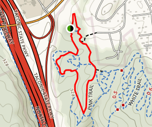 Graham Hills Pink Trail Map