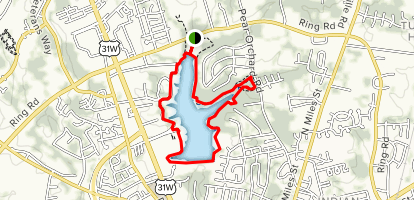 Freeman Lake Trail Map