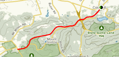 Lebanon Valley Rail Trail: Cornwall To Colebrook Map