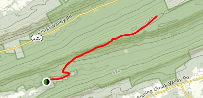 Stony Mountain Lookout Tower via Rattling Run Trail Map