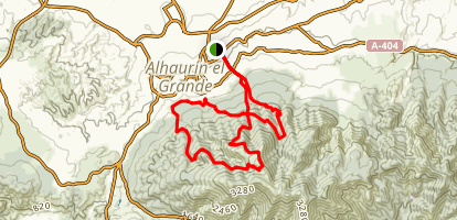 Alhaurin el Grande Loop Trail Map