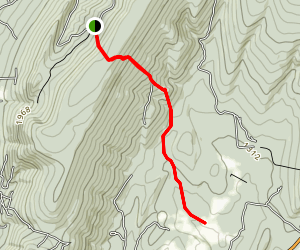 Evitts Mountain Trail Map