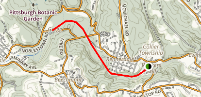 Panhandle Trail-Walkers Mill To Gregg Station Map