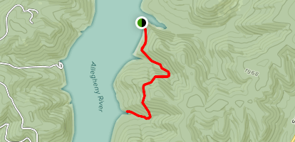 Handsome Lake Trail Map
