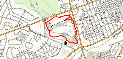 Main and Upper Trexler Park Loop Map