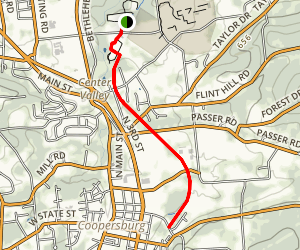 Saucon Rail Trail South Map