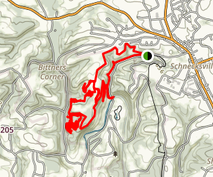 Trexler Mountain Bike Trails Map