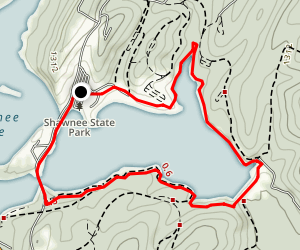 Shawnee Lake Trail Map