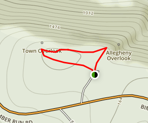 Tidioute Overlook Trail Map