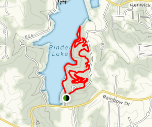 Binder Curves Trail Map