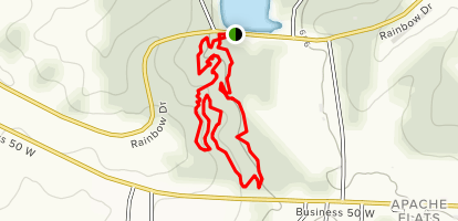 Binder Red Trail Map