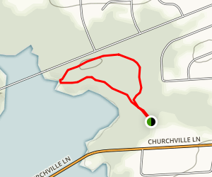 Churchville Nature Center Loop Map