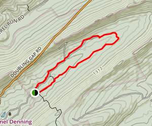 Doubling Gap Creek Trail Map