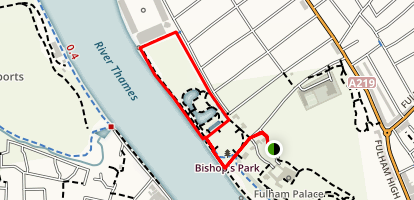 Bishop's Park Loop Trail Map