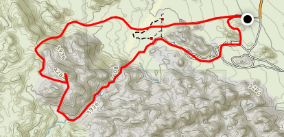 Mount Bob Loop from Indian Cove Campground Map