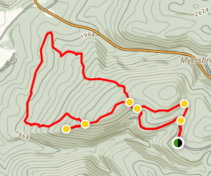 Painter Rock Loop Trail Map